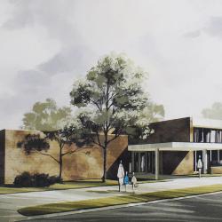 Chippewa Falls Public Library Drawing